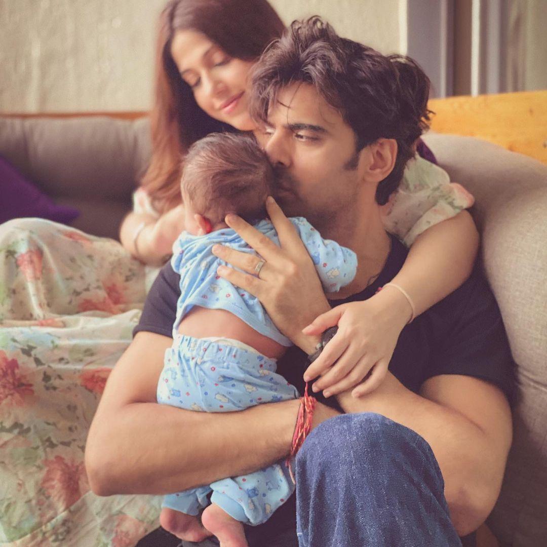 Mohit Malik With Wife Addite And Son Ekbir