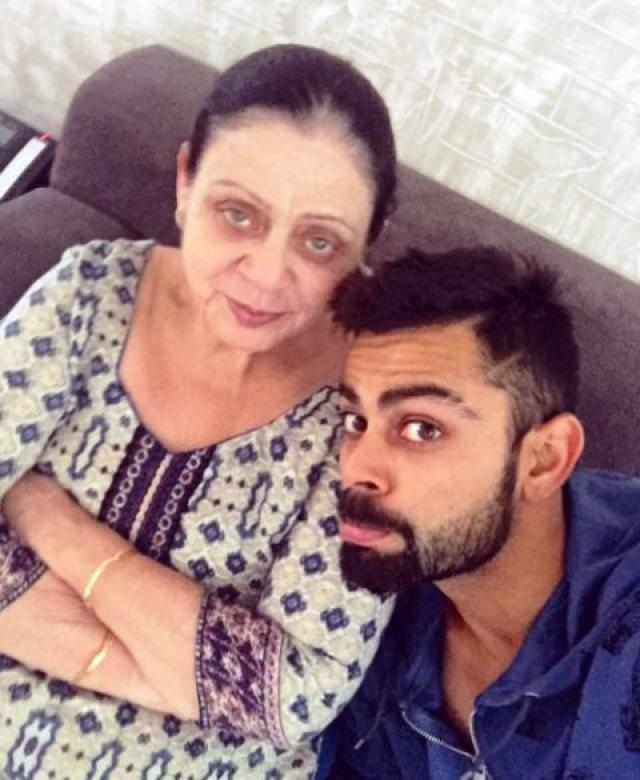 Virat Kohli With Mother