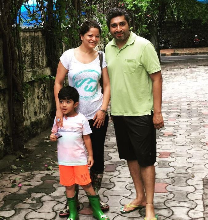 Arzoo Govitrikar with hubby Siddharth and son
