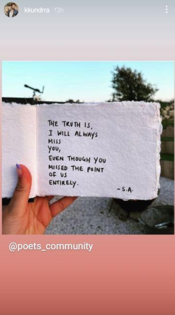 Karan Kundrra' Note