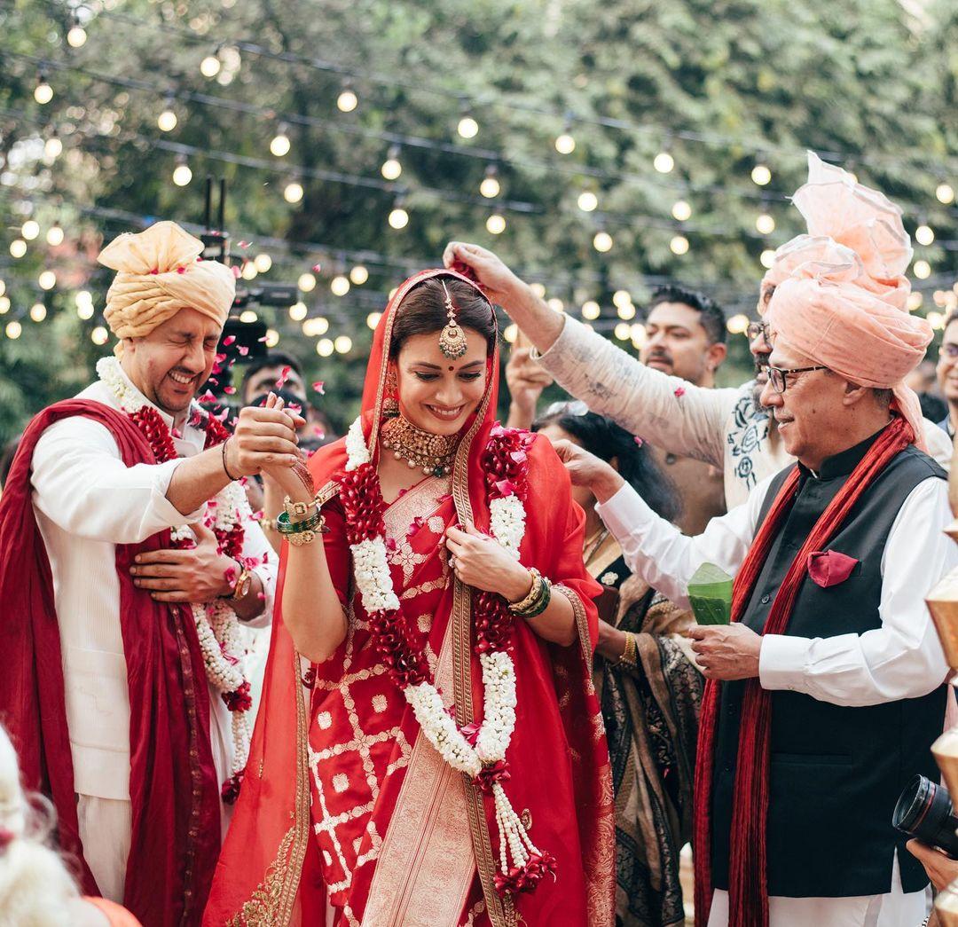 Dia Mirza' Wedding Look