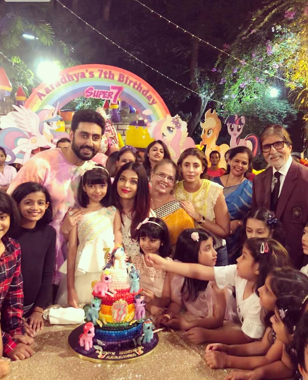 Aishwarya Rai daughter Aaradhya Bachchan Birthday photos