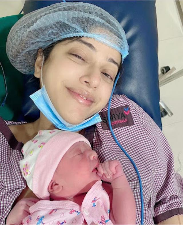 aditi malik with baby boy