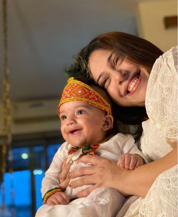aditi malik with baby