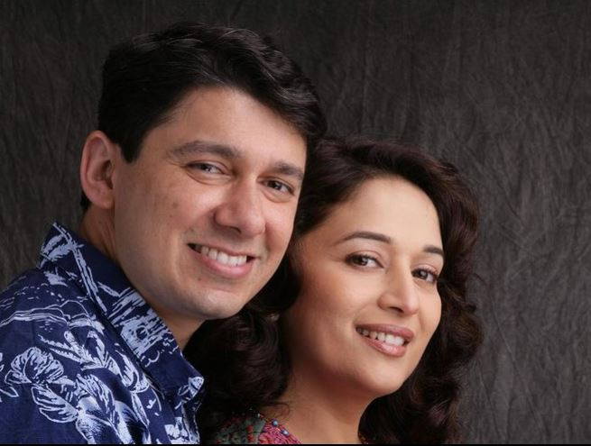 madhuri dixit with her husband