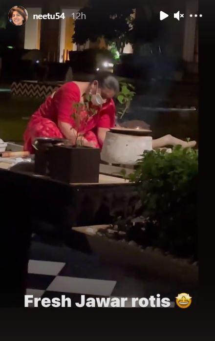 Woman Making Jawar Rotis