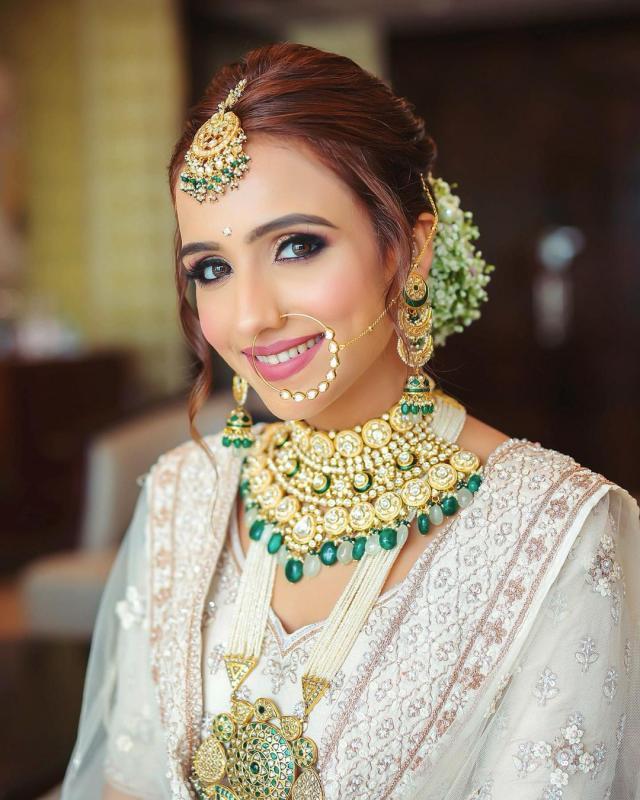 The Indian Bride In White Lehenga