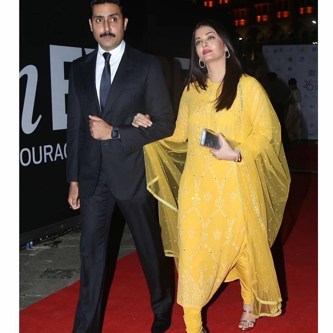 Abhisehk with wife Aishwarya
