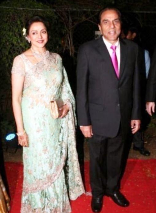 Hema Malini With Hubby Dharmendra