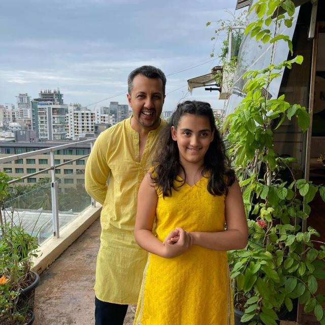 Dia Mirza's Husband Vaibhav Rekhi With His Daughter