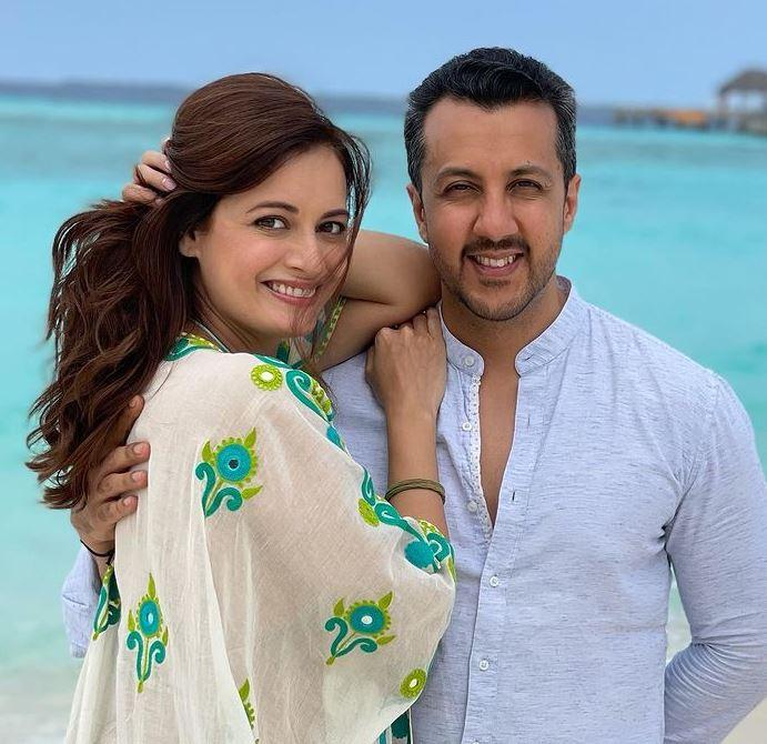 Dia Mirza With Her Husband Vaibhav Rekhi