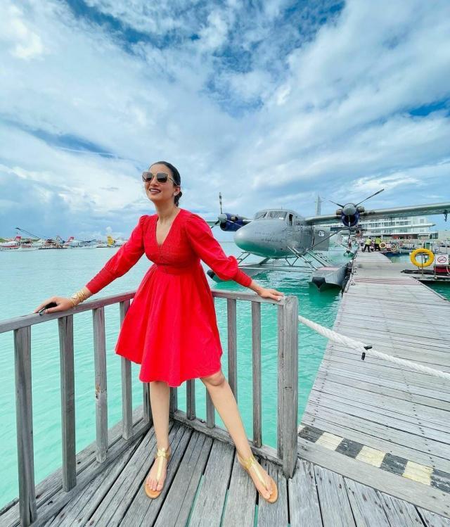 gauhar khan Maldives vacation