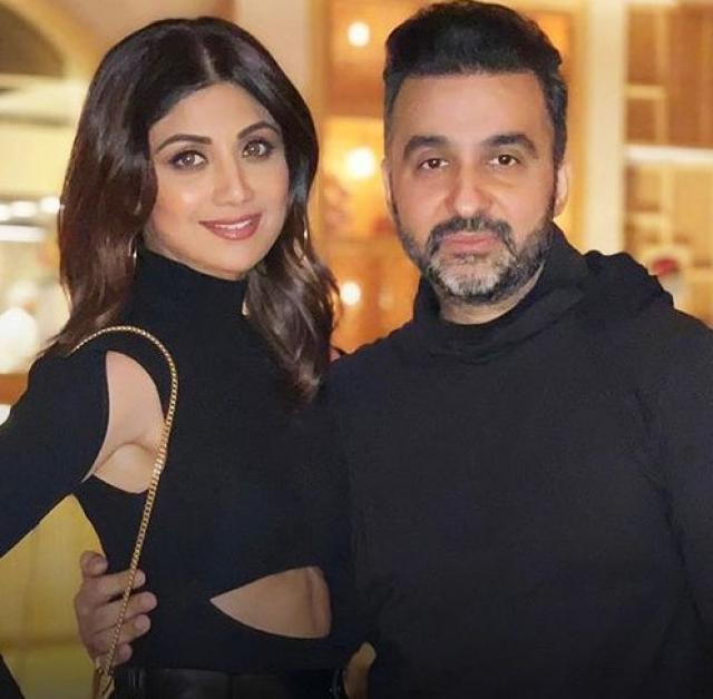 Shilpa Shetty With Her Hubby Raj Kundra
