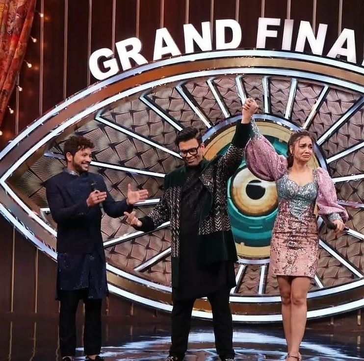 Divya Agarwal With Karan Johar And Nishant Bhatt