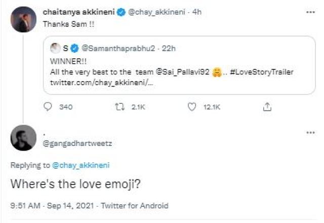 fans comment on Naga Chaitanya tweet