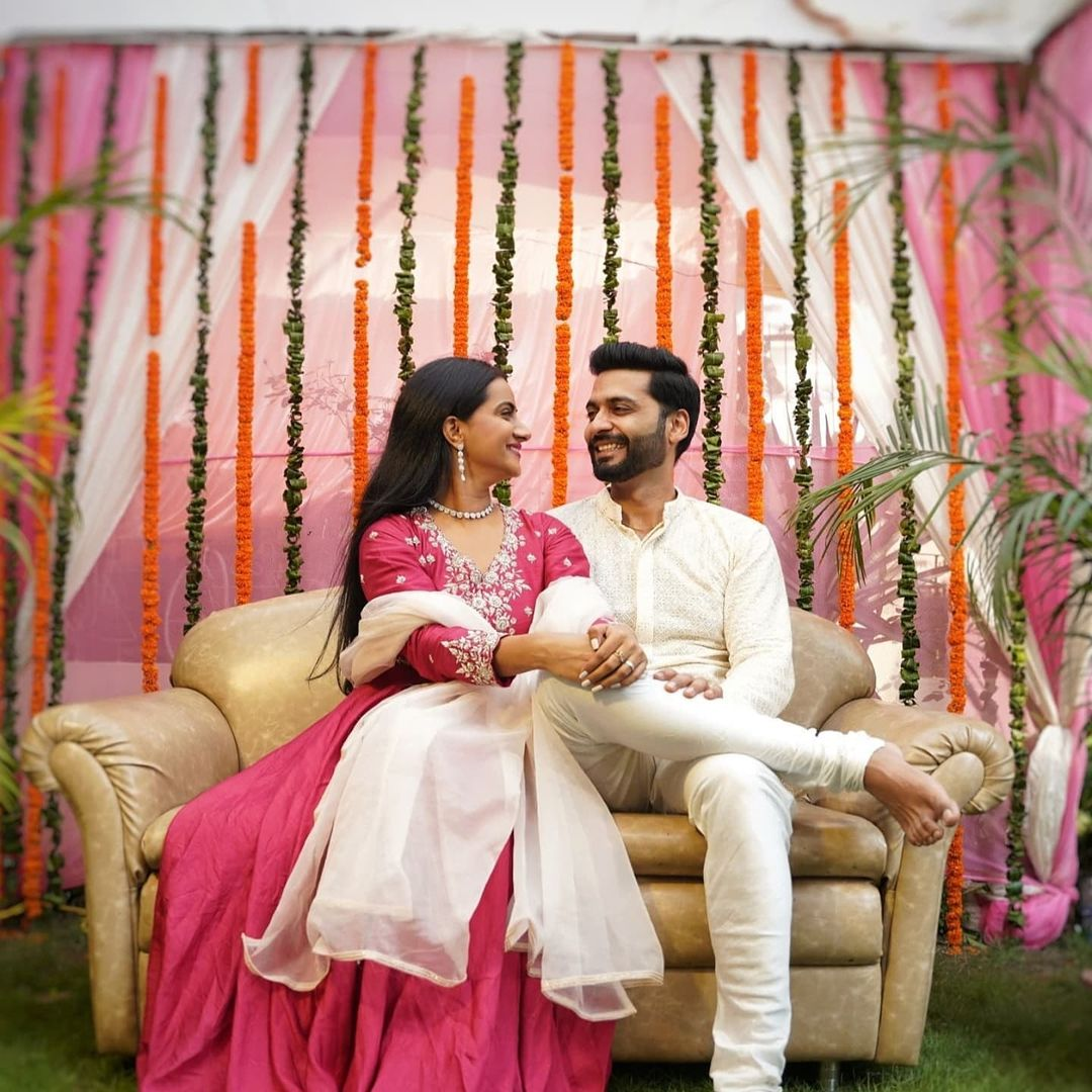 Aastha Chaudhary with her fiance