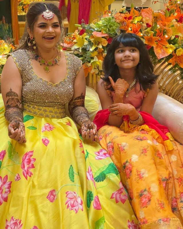actress mehendi ceremony
