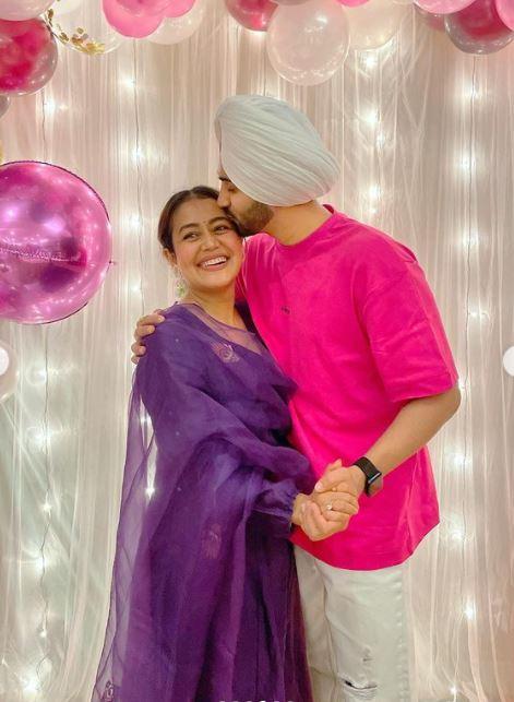 Neha Kakkar With Her Hubby Rohanpreet Singh
