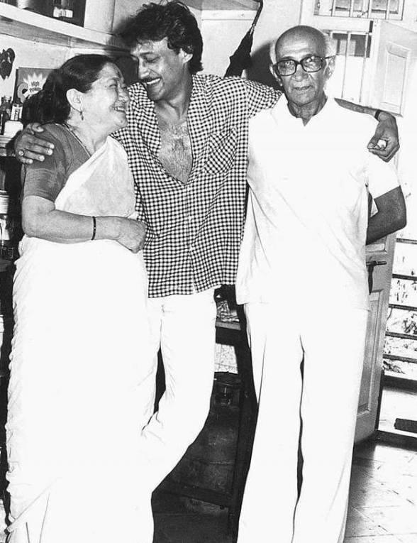 Jackie Shroff With Parents
