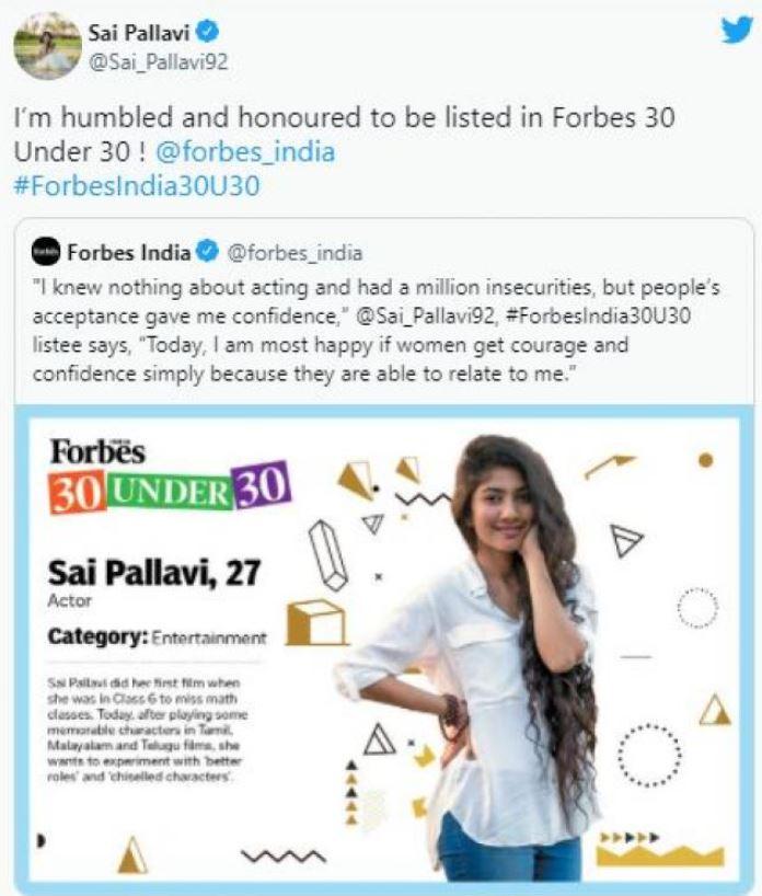 Sai Pallavi Tweet