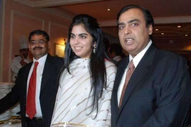 mukesh ambani with his daughter