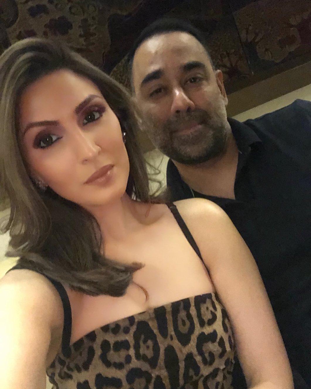 riddhima with husband