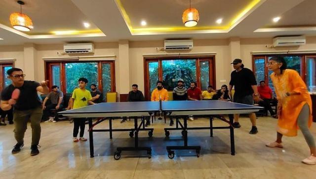 Aamir Khan Playing Tennis With His Ex Wife Kiran