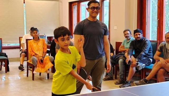 Aamir Khan With His Son Aazad Khan