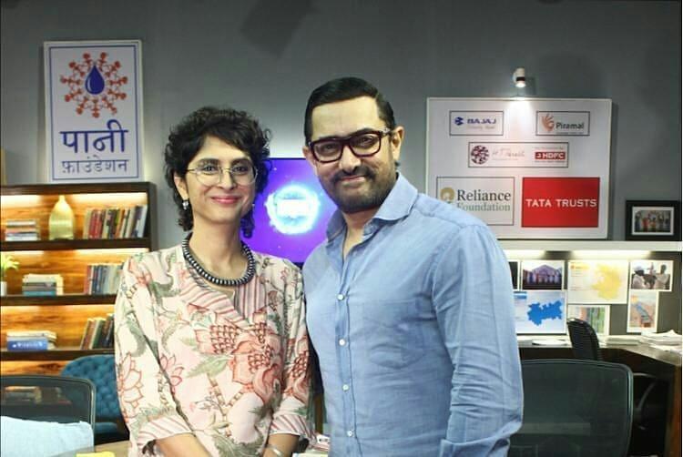 Aamir Khan With his ex wife Kiran Rao