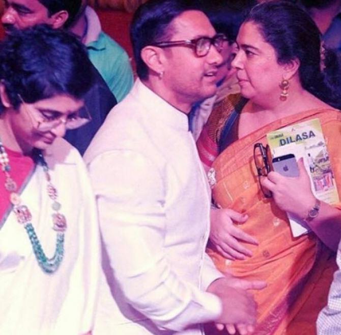 Aamir Khan With Ex Wives Reena And Kiran