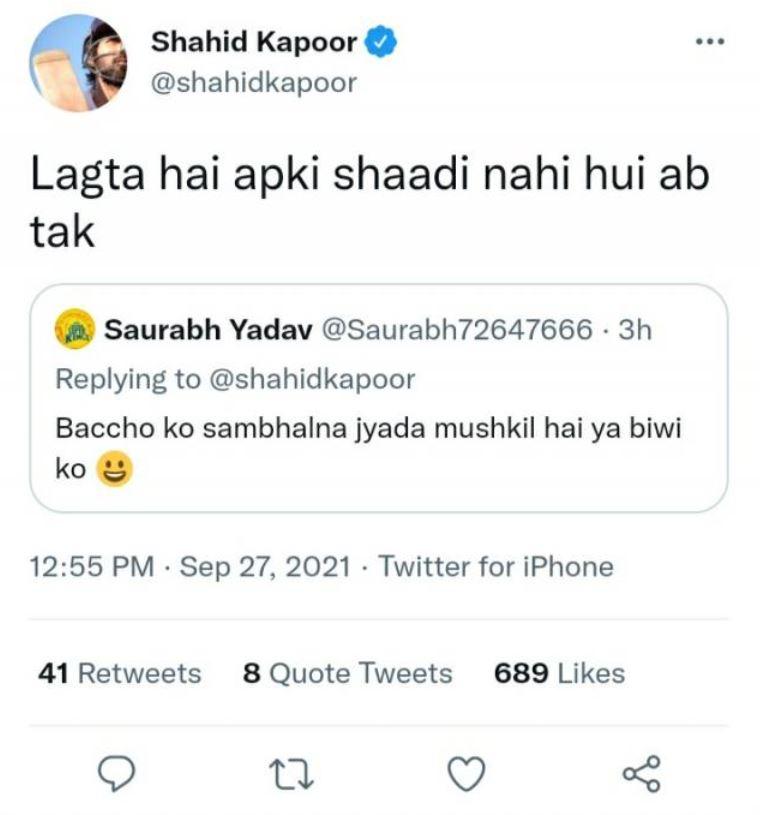Shahid Kapoor Twitter