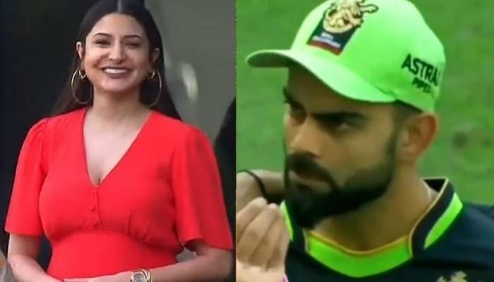 प्रेग्नेंट अनुष्का शर्मा से बीच मैच में विराट ने पूछा- 'खाना खाया?' देखें कैसे कपल कर रहा है इशारा