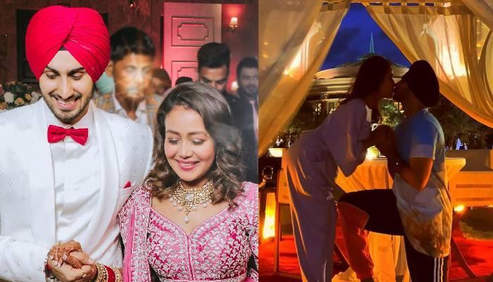 नेहा कक्कड़ ने शेयर की बेडरूम की तस्वीरें, किस करते नजर आए रोहनप्रीत