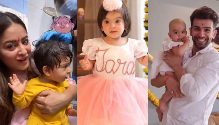 माही विज और जय भानुशाली ने शेयर की बेटी के मुंडन लुक की फोटो व वीडियो