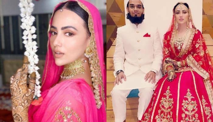 सना खान ने शुरू किया मेहंदी सेरेमनी के लुक का नया ट्रेंड, शादी के जोड़े में दिखीं गजब की खूबसूरत