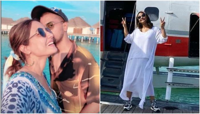 हिना खान बॉयफ्रेंड रॉकी जायसवाल और फैमिली संग छुट्टियां मनाने पहुंचीं मालदीव, देखें फोटोज