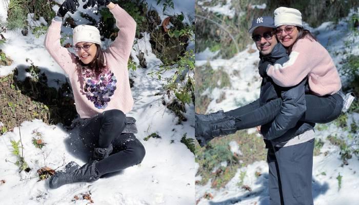 काजल अग्रवाल ने पति गौतम किचलू संग शिमला की बर्फीली वादियों में सेलिब्रेट किया न्यू ईयर, देखें फोटोज