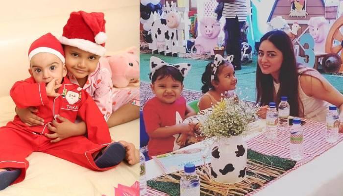 माही विज के गोद लिए बेटे राजवीर अपनी छोटी बहन तारा को खाना खिलाते आए नजर, देखें क्यूट फोटो