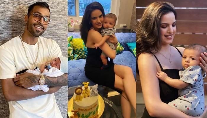 हार्दिक पांड्या की पत्नी नताशा ने मनाया बेटे अगस्त्य का बर्थडे, 4 महीने के हो गए 'जूनियर पांड्या'