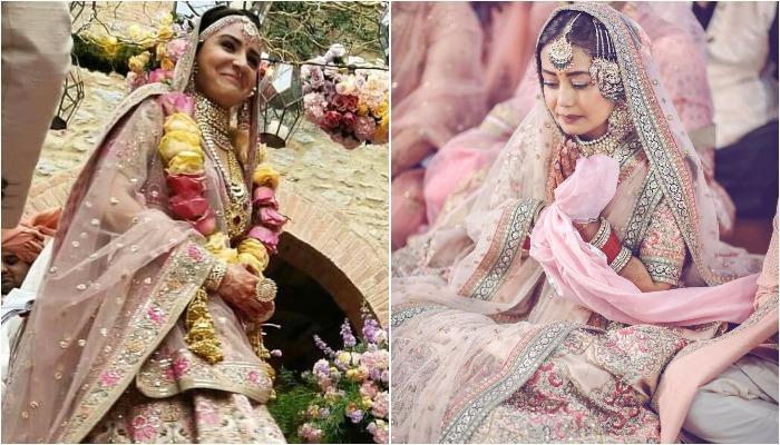 इन एक्ट्रेसेस ने अपनी शादी में पहना था गुलाबी रंग का लहंगा, लग रही थीं बेहद खूबसूरत