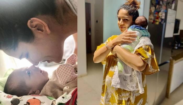 टीवी एक्ट्रेस शिखा सिंह की बेटी अलायना सोते हुए लग रही है 'परी', देखें खूबसूरत तस्वीर