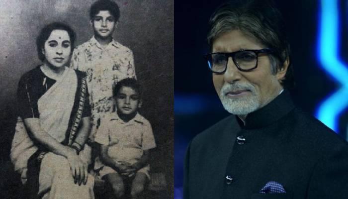 अमिताभ बच्चन ने शेयर की बचपन और बुढ़ापे की फोटो, कैप्शन में लिखी मजेदार बात