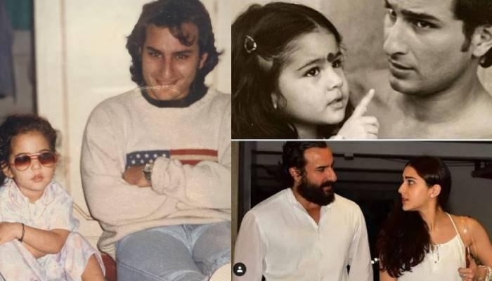 अब्बू सैफ की शेविंग करती दिखीं नन्ही सारा अली खान, देखें ये अनदेखी फोटो