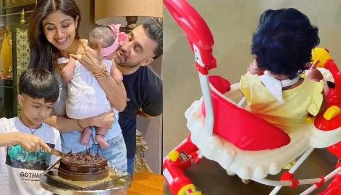 शिल्पा शेट्टी की बेटी समीशा अपनी खिलौना गाड़ी पर घूमते आई नजर, पति राज कुंद्रा ने शेयर किया वीडियो