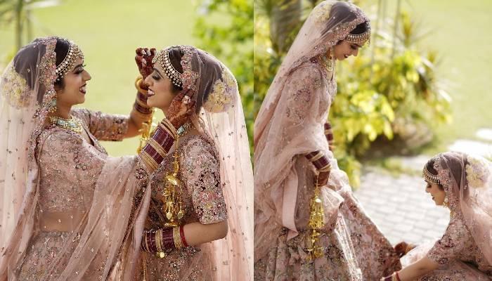 जुड़वा बहनों ने एक ही दिन रचाई शादी, पहना एक जैसा ड्रेस, फोटो देख पहचान लगा पाना मुश्किल