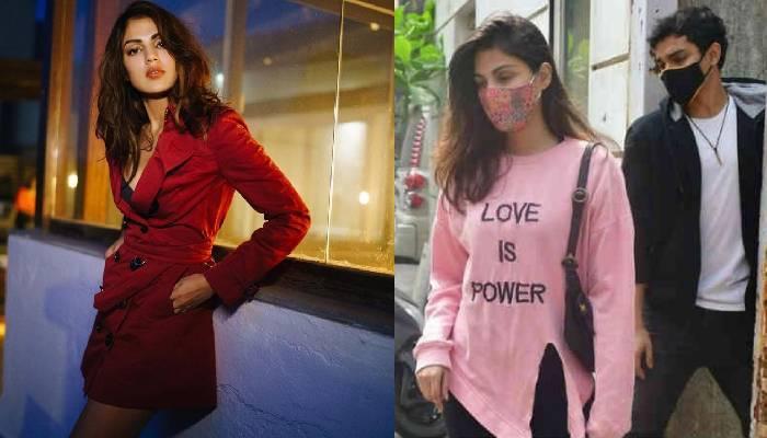 रिया चक्रवर्ती भाई शौविक के साथ नया घर तलाशती आईं नजर, टी-शर्ट ने खींचा लोगों का ध्यान