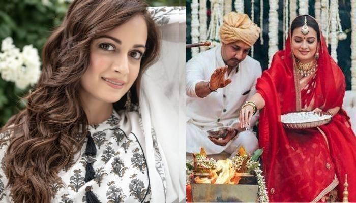 दीया मिर्जा ने शादी के बाद की रस्म के लिए पहना 27000 रुपए का अनारकली सूट, देखें खूबसूरत फोटो