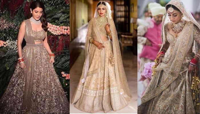 गोल्डन रंग के लहंगे में इन 'दुल्हनों' ने अपनी शादी को बनाया स्पेशल, इनमें कई एक्ट्रेसेस भी हैं शामिल