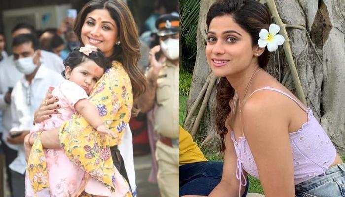 शिल्पा शेट्टी की बहन शमिता संग बेटी समीशा की ये फोटोज हैं सुपर क्यूट, बिल्कुल सेम लग रहीं मासी-भांजी