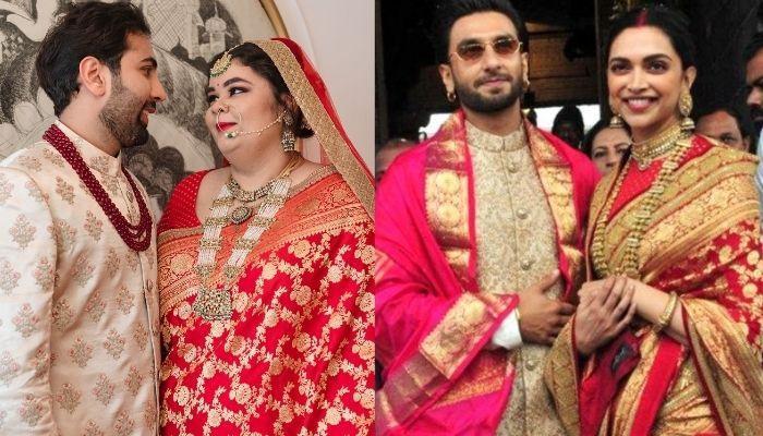 इस प्लस-साइज सब्यसाची दुल्हन ने अपनी शादी में पहनी दीपिका पादुकोण की पहली एनिवर्सरी जैसी साड़ी